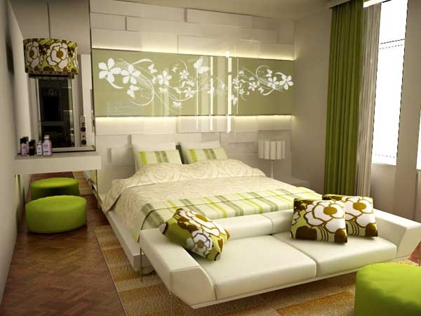 20130812025234197 Decor bedroom according to Feng Shui for young couples